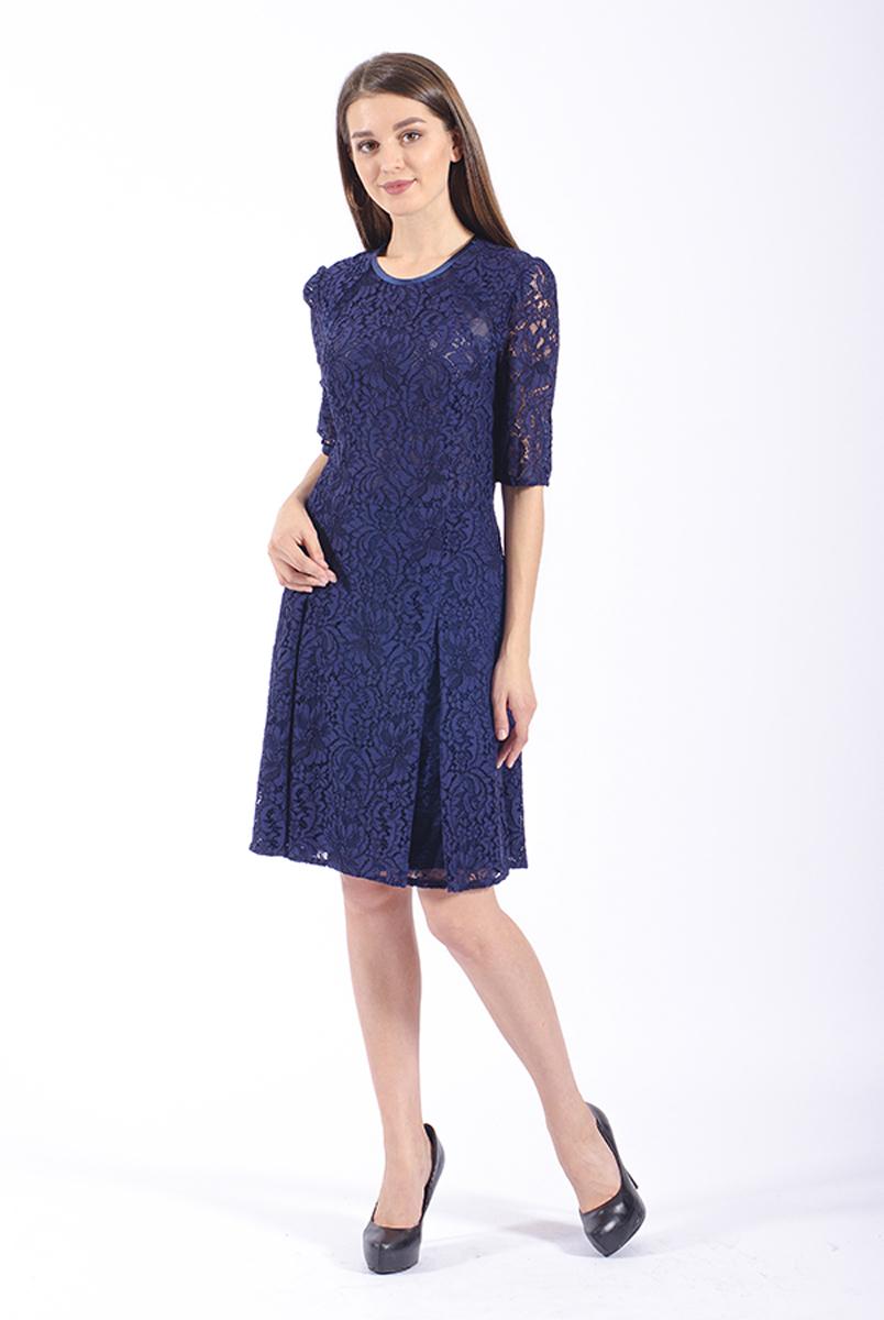 Платье Lusio, цвет: темно-синий. AW18-020070. Размер S (42/44)AW18-020070