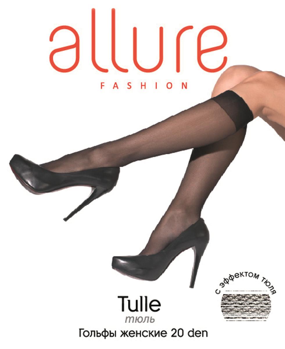 Гольфы Allure Tulle 20, цвет: Nero (черный). Размер универсальныйTulle 20Тонкие гольфы с эффектом «тюль» (мелкая сетка), за счет особой вязки идеально подходят для теплого сезона. Широкая комфортная резинка, укрепленный мысок.