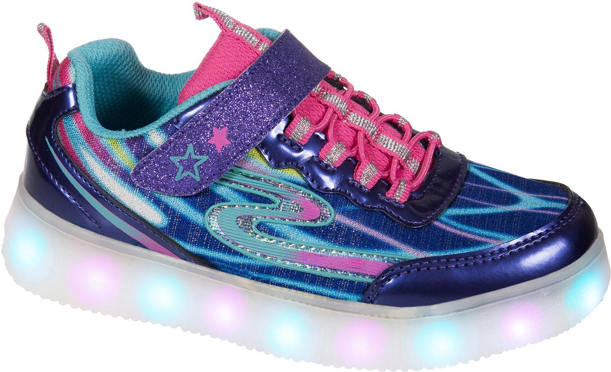 Кроссовки для девочки Mursu, цвет: фиолетовый. 203545. Размер 34203545Стильные кроссовки от Mursu очаруют вашу девочку с первого взгляда. Модель выполнена из текстиля и искусственной кожи. Эластичная шнуровка и ремешок с застежкой-липучкой обеспечат надежную фиксацию модели на ноге. Внутренняяповерхность из текстиля предотвращает натирание. Кожаная стелька позволяет ножкам дышать. Светящаяся подошва имеет 5 режимов подсветки (зарядка от USB-порта, шнур для зарядки в комплекте). Стильные и удобные кроссовки - незаменимая вещьв гардеробе каждой девочки!