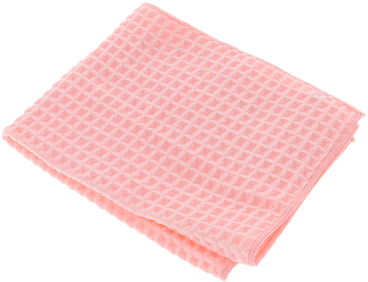 Полотенце кухонное Paterra Professional, для сушки посуды, цвет: розовый, 50 х 40 см paterra