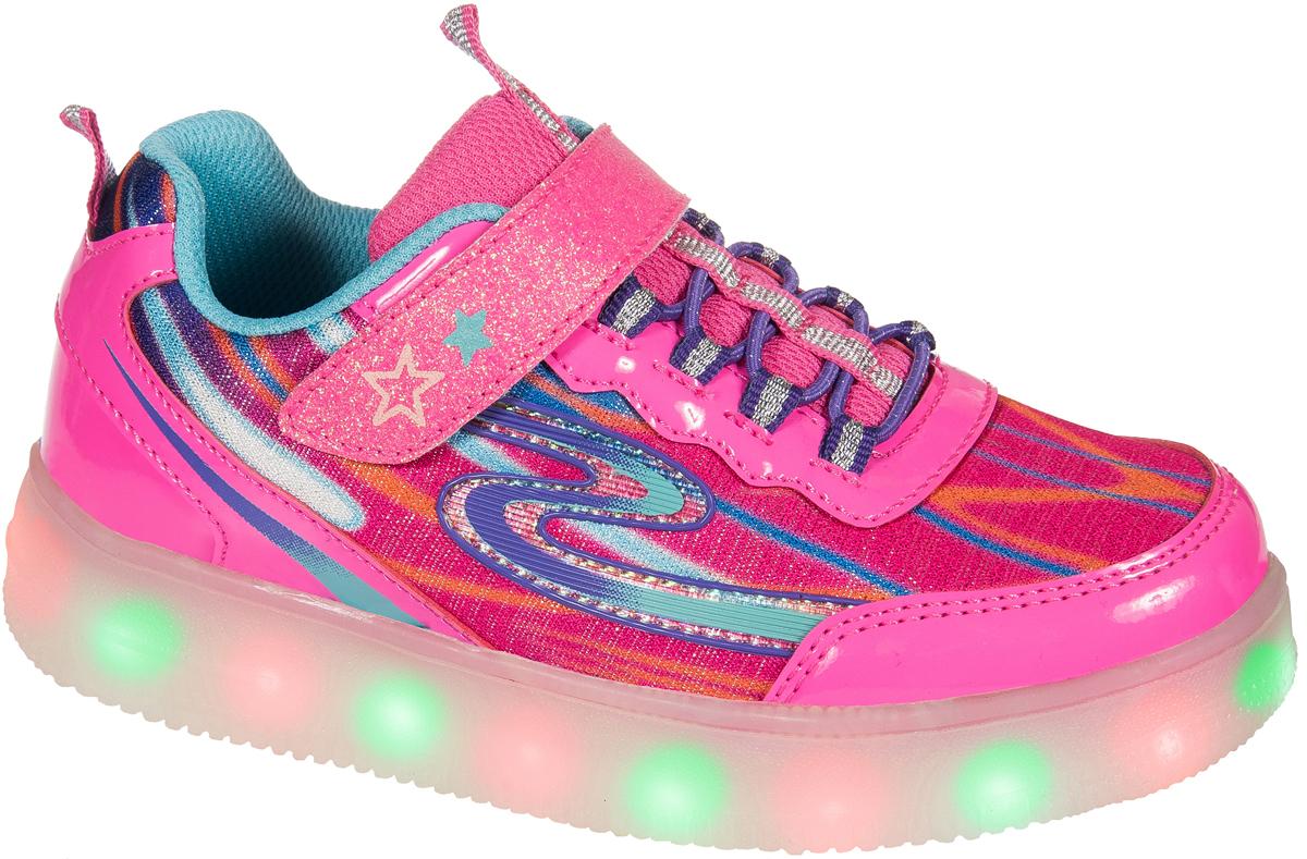 Кроссовки для девочки Mursu, цвет: фуксия. 203544. Размер 36203544Застежка велькро (липучка) и эластичные шнурки. Светящаяся подошва, 5 режимов (видов) подсветки, зарядка от USB - порта (шнур для зарядки в комплекте).