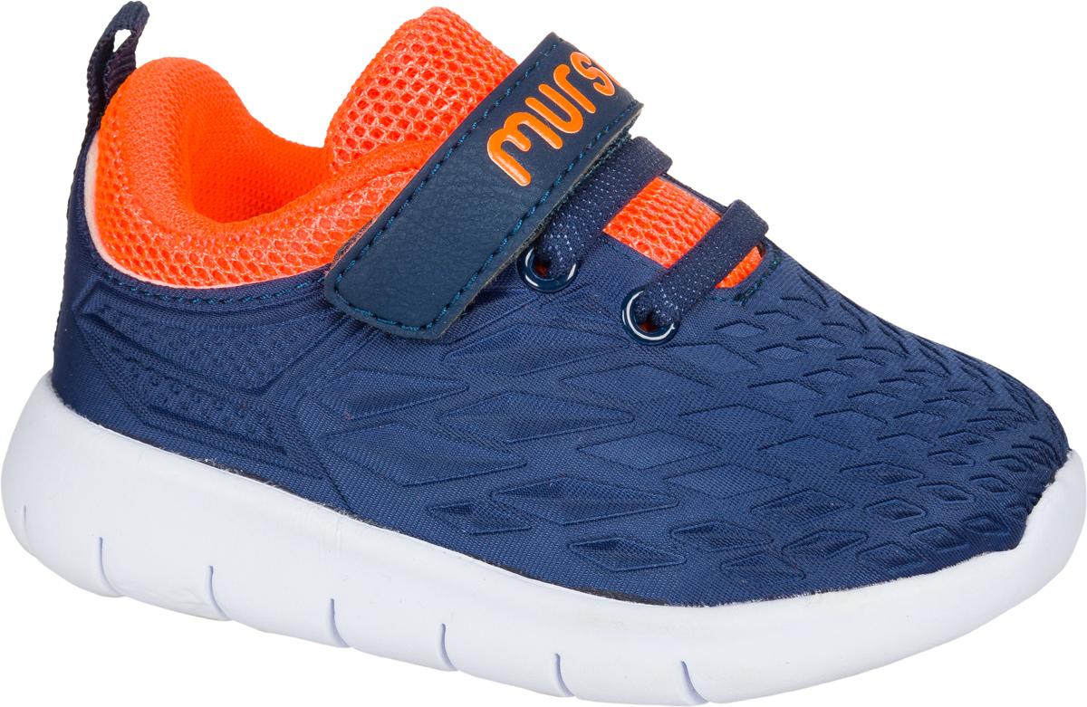 Кроссовки для мальчика Mursu, цвет: синий, оранжевый. 203008. Размер 23203008Стильные кроссовки от Mursu придутся по душе вашему мальчику. Модель выполнена из текстиля и искусственной кожи. Эластичная шнуровка иремешок с застежкой-липучкой, оформленный фирменным тиснением, обеспечат надежнуюфиксацию модели на ноге. Кожаная стелька позволяет ногам дышать. Внутренняя поверхность из текстиля предотвращает натирание. Подошва срифлением обеспечивает идеальное сцепление с любой поверхностью. Оригинальные кроссовки- незаменимая вещь в гардеробе каждого мальчика!