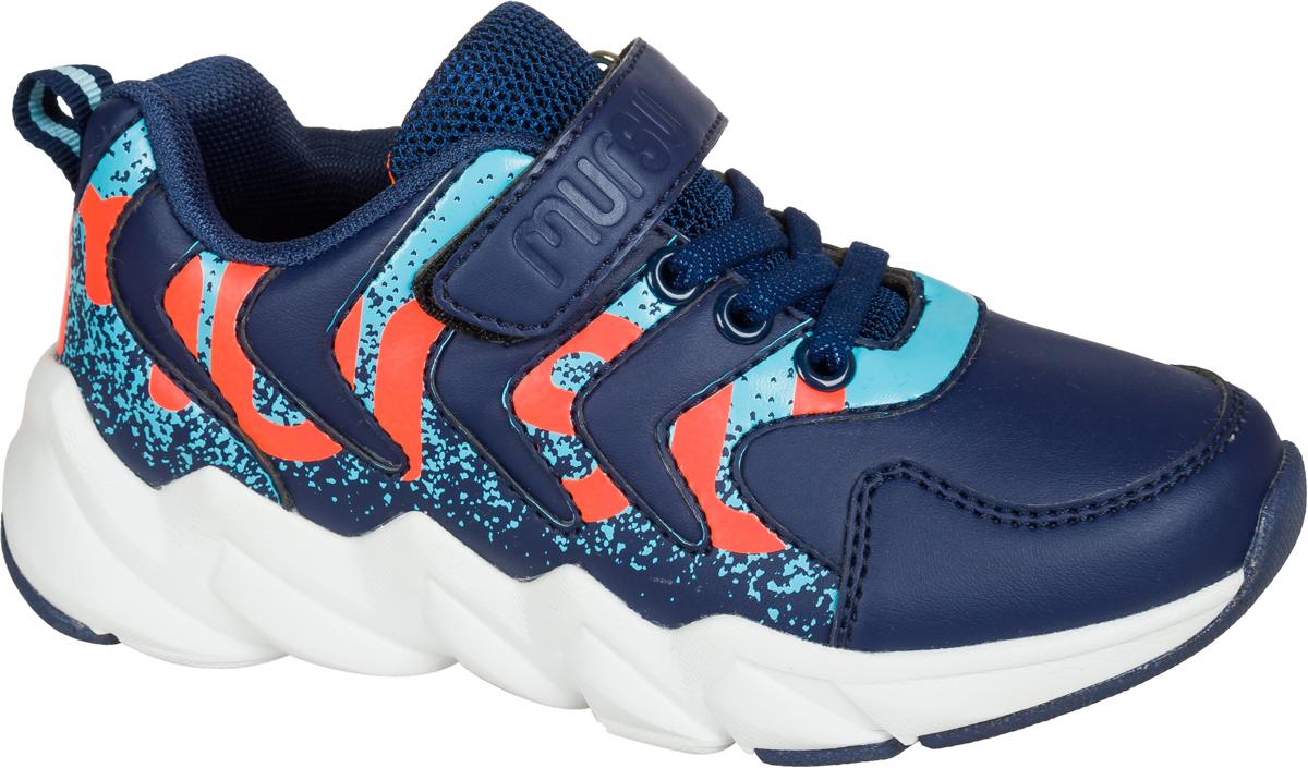 Кроссовки для мальчика Mursu, цвет: синий. 203176. Размер 29203176Застежка велькро (липучка) и эластичные шнурки.