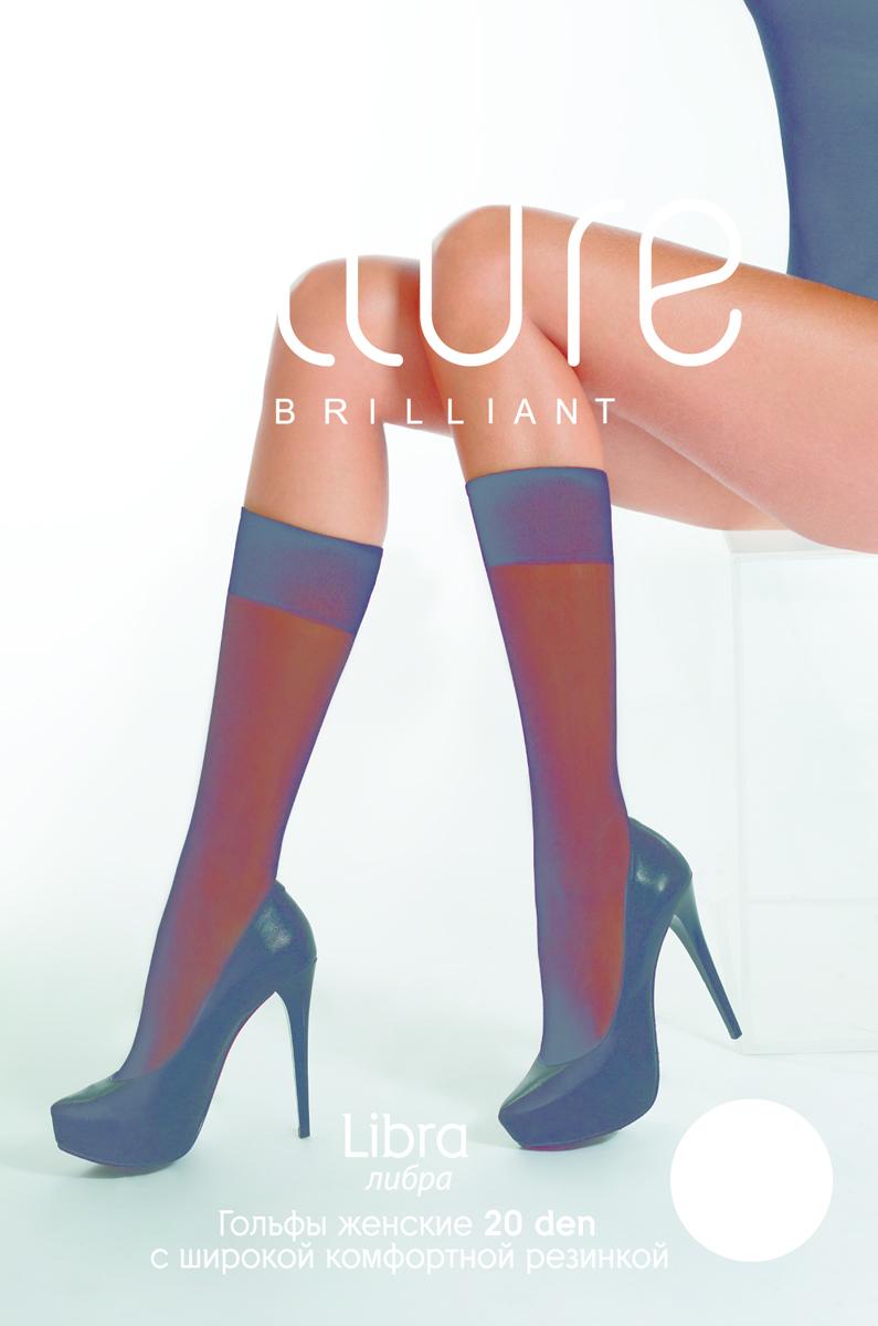 Гольфы Allure Libra 20, цвет: Glase (бронза), 2 пары. Размер универсальный гольфы pompea гольфы vani 20