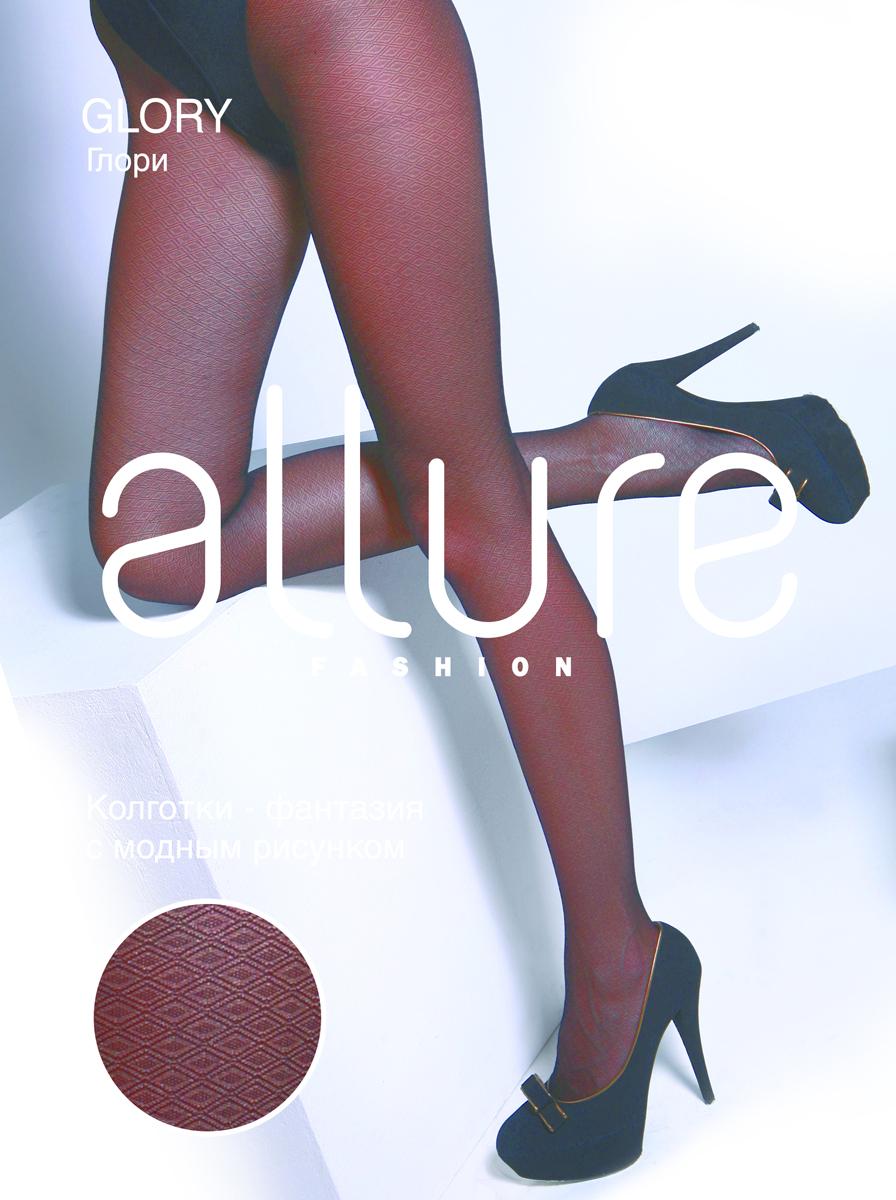 Колготки Allure Glory 40, цвет: Nero (черный). Размер 4Glory 40Модные, плотные, однородные по всей длине колготки, с рисунком «ажурный ромб». Плоские швы, укрепленный мысок и хлопковая ластовица.