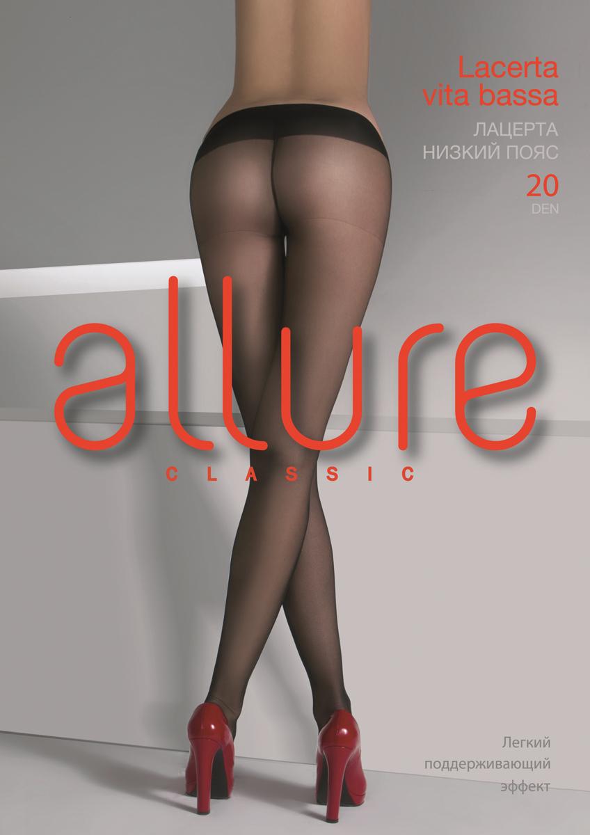 Колготки Allure Lacerta 20 VB, цвет: Nero (черный). Размер 4 колготки allure allure mp002xw134cf