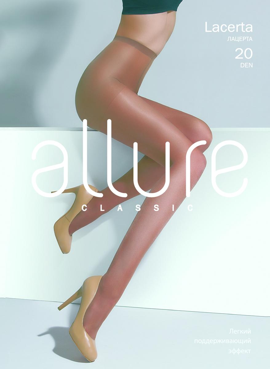 Колготки Allure Lacerta 20, цвет: Glase (бронза). Размер 4Lacerta 20Классические тонкие колготки для теплого сезона с усиленной верхней частью и укрепленным мыском.