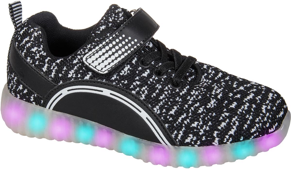 Кроссовки для мальчика Mursu, цвет: черный, белый. 203534. Размер 27203534Застежка велькро (липучка) и эластичные шнурки. Светящаяся подошва, 15 режимов (видов) подсветки, зарядка от USB - порта (шнур для зарядки в комплекте).