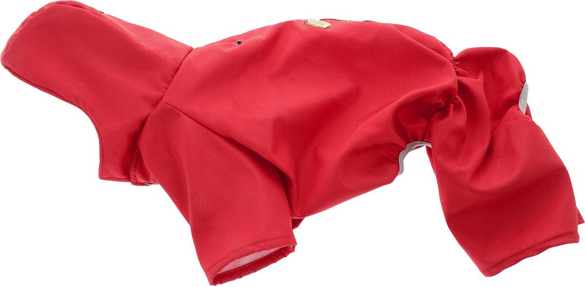 Дождевик прогулочный для собак GLG, цвет: красный. Размер L дождевик для собак