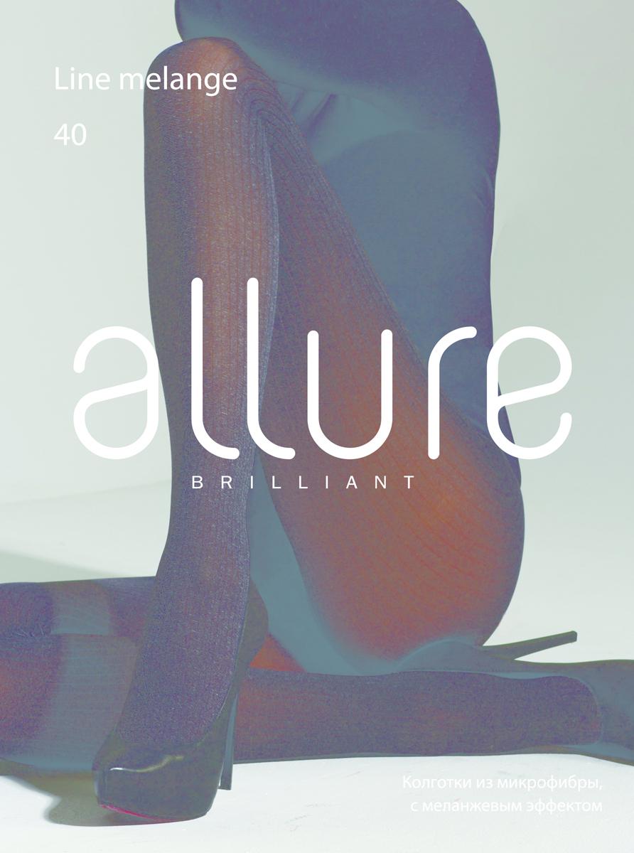 Колготки Allure Line melange 40, цвет: Nero (черный). Размер 4