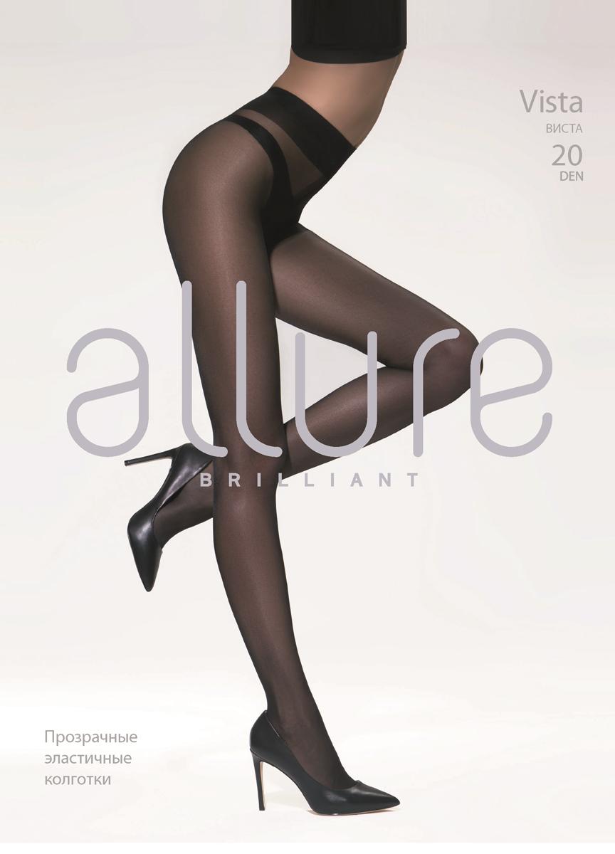 Колготки Allure Vista 20, цвет: Nero (черный). Размер 5Vista 20Классические прозрачные колготки однородные по всей длине. Плоские швы, укрепленный мысок и хлопковая ластовица