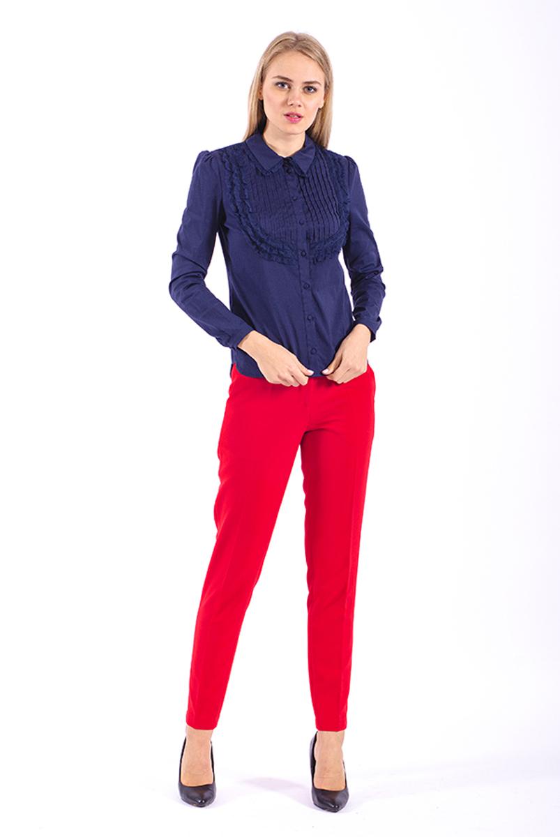 Рубашка женская Lusio, цвет: темно-синий. AW18-100002. Размер S (42/44)