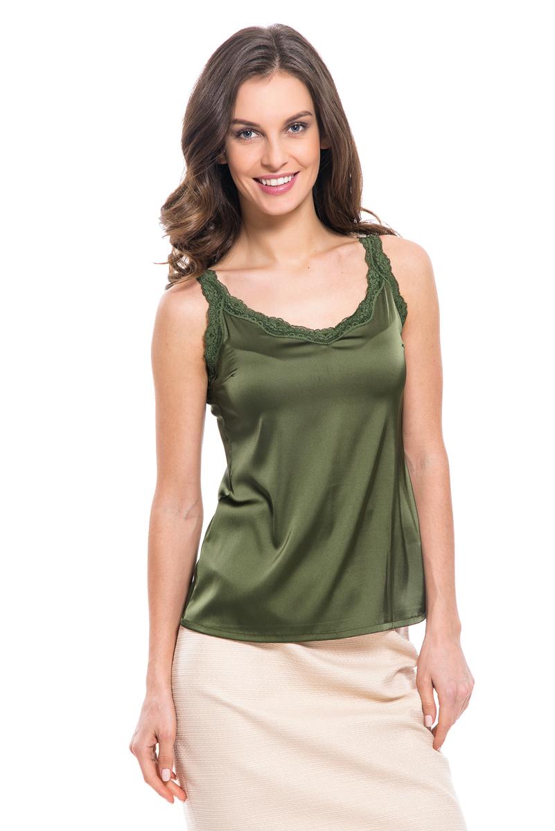 где купить Топ женский Lusio, цвет: зеленый. SS18-370033. Размер XS (40/42) по лучшей цене