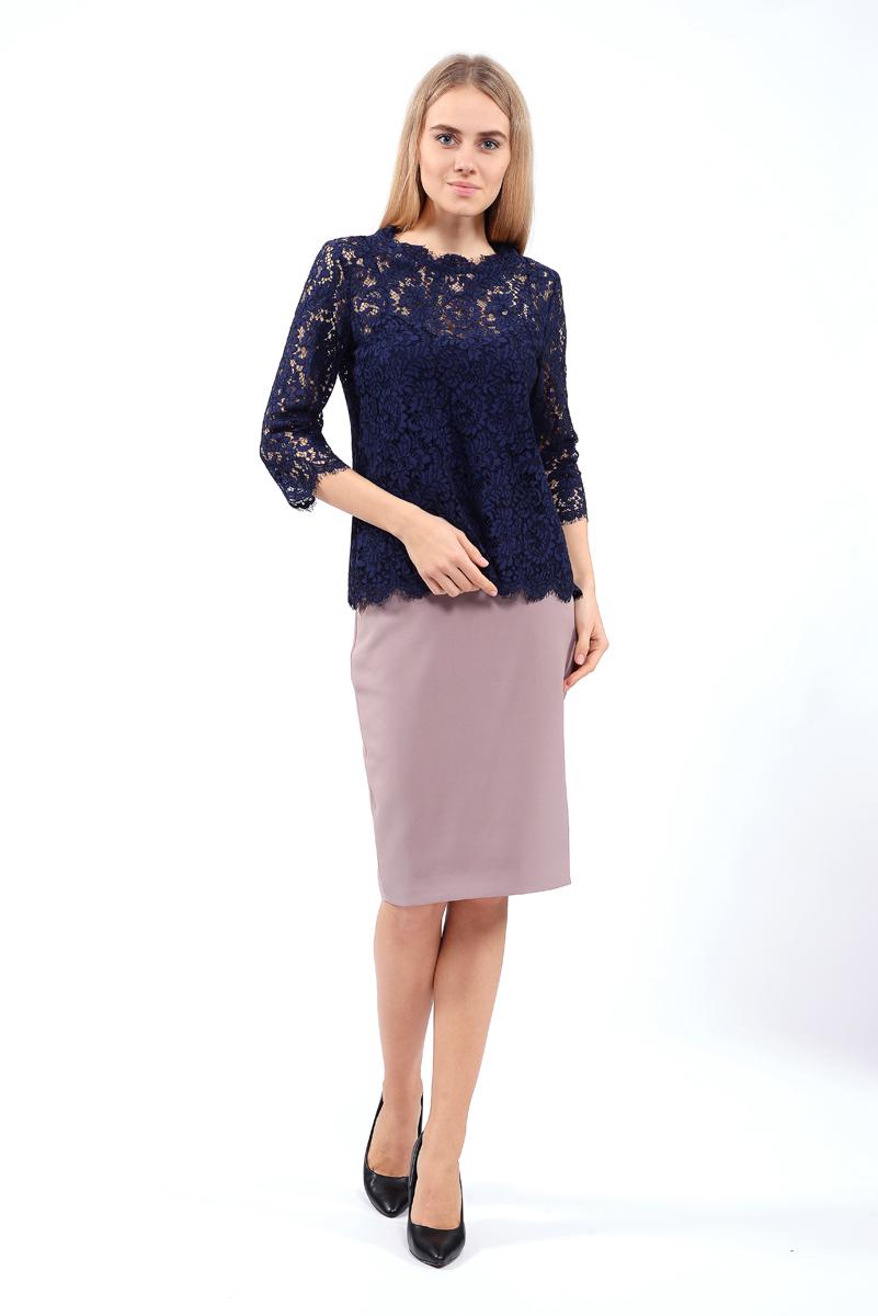 Блузка женская Lusio, цвет: темно-синий. AW18-370011. Размер S (42/44)AW18-370011