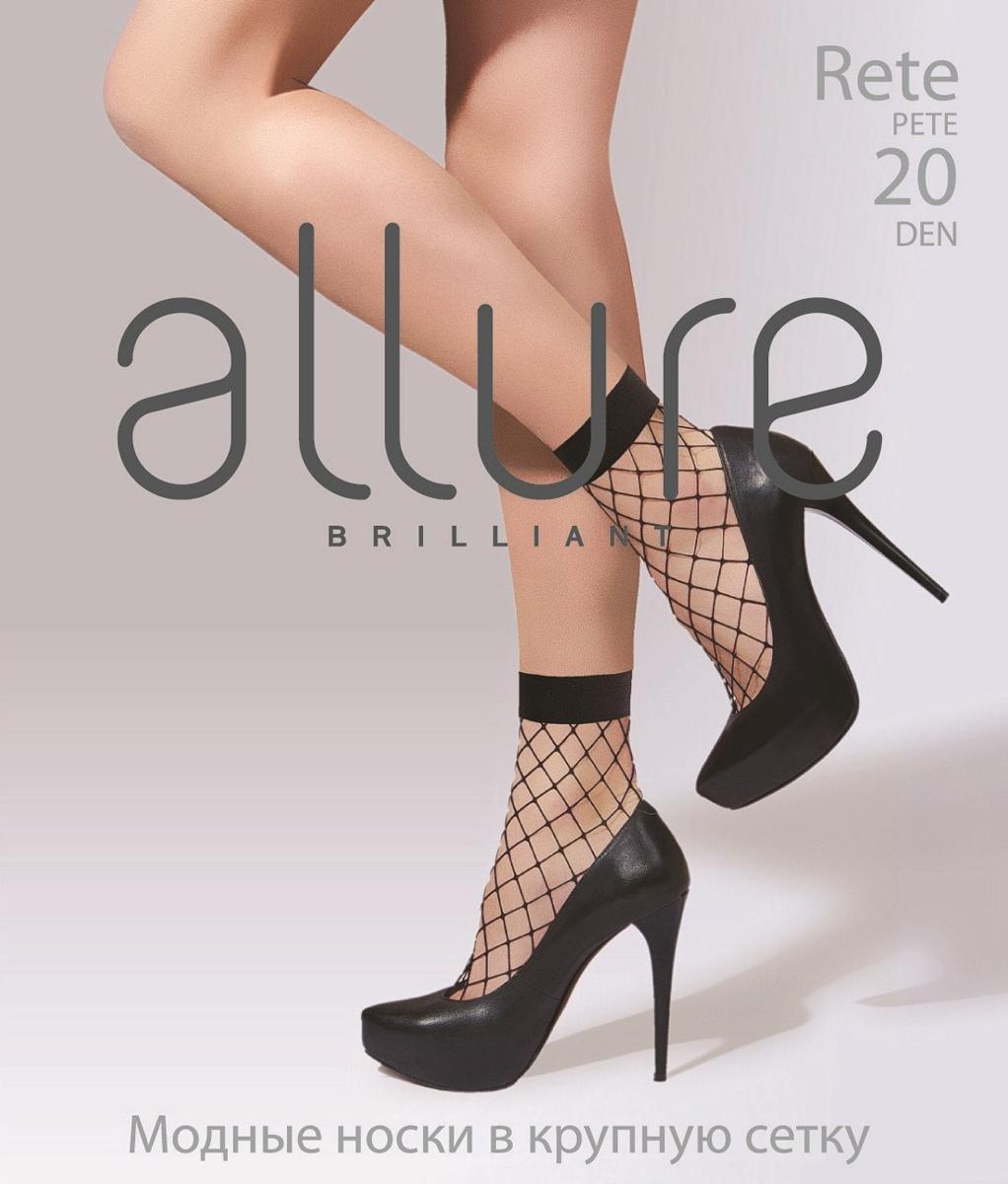 Носки женские Allure Rete Maxi 20, цвет: Nero (черный). Размер универсальный недорго, оригинальная цена