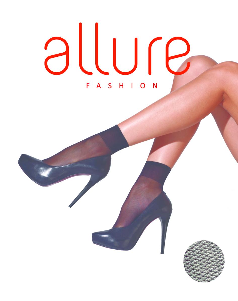 Носки женские Allure Tulle 20, цвет: Nero (черный). Размер универсальныйTulle 20Тонкие носки с эффектом «тюль» (мелкая сетка), за счет особой вязки идеально подходят для теплого сезона. Широкая комфортная резинка, укрепленный мысок.