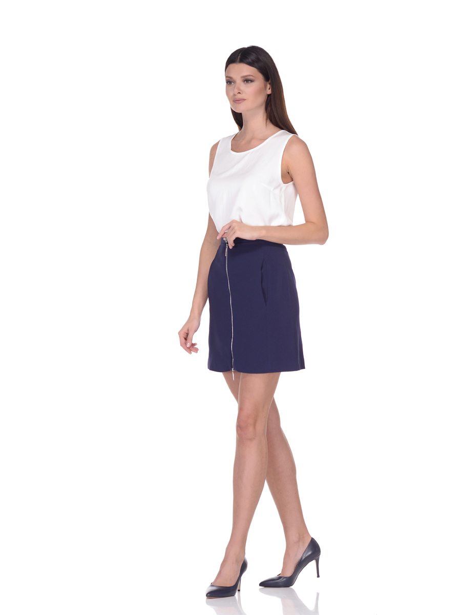 Юбка женская Lusio, цвет: темно-синий. AW18-030020. Размер XS (40/42) цены онлайн