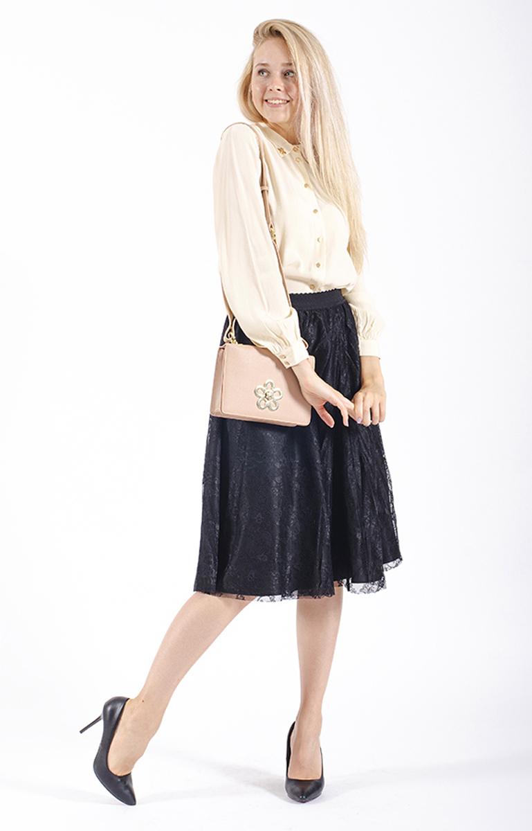 Юбка женская Lusio, цвет: черный. AW18-030044. Размер L (46/48)AW18-030044