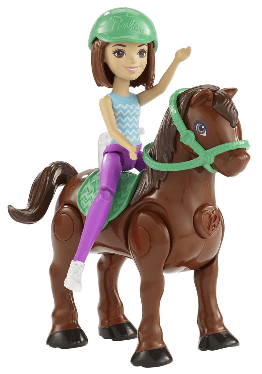 Barbie Игровой набор с куклой В движении Пони и кукла