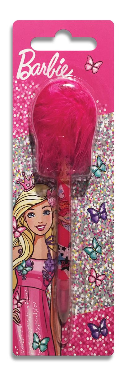 Mattel Ручка шариковая с перьями Barbie цвет чернил синий01469826Ручка шариковая Barbie с декоративными перьями с дизайном. Обеспечивает легкое и мягкое письмо, насыщенные линии толщиной 0,7 мм. Цвет чернил-синий