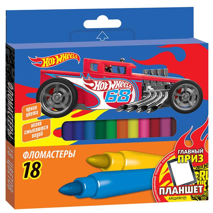 Mattel Hot Wheels Набор фломастеров Hot Wheels 18 шт