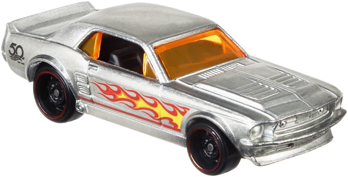 Hot Wheels Трековые машинки Юбилейные тематические машинки 67 Ford Mustang Coupe