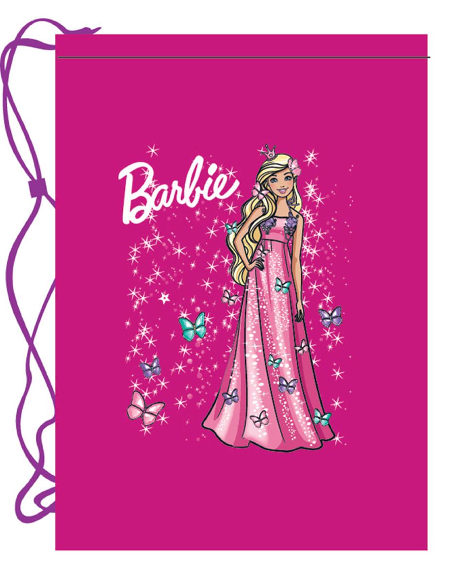 Mattel Мешок для обуви Barbie42308244Мешок для обуви Mattel Barbie, ткань полиэстер 210 den, водоотталкивающее покрытие