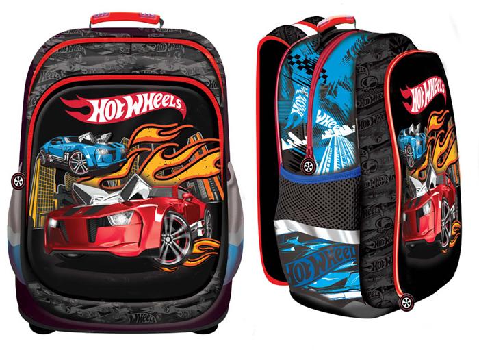 Mattel Школьный рюкзак Nice Bag Hot Wheels4994946Стильный черный рюкзак Nice bag Mattel Hot Wheels предназначен для младшей школы и сочетает в себе отличное качество, модный дизайн с известными персонажами, удобную форму и легкий вес. Рюкзак Nice Bag Mattel Hot Wheels имеет вместительное отделение, большой передний карман на молнии и два боковых кармана на сетке, а также рюкзак оснащен удобными регулируемыми лямками и эргономичной спинкой. Размер: 39*34*17 см Объем: 22,5 л