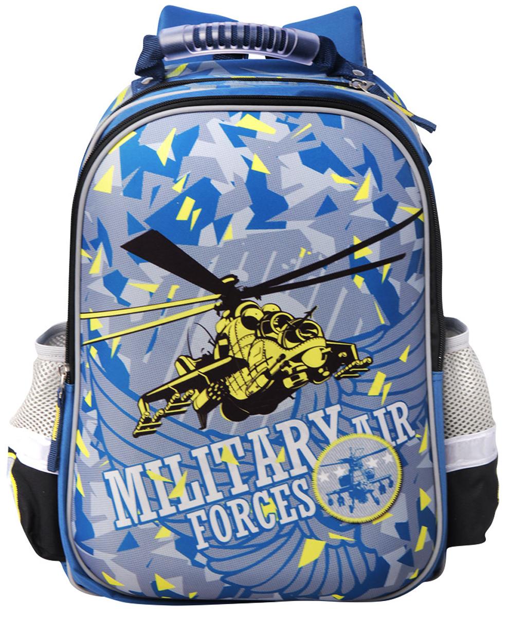 Limpopo Ранец школьный Super bag Military Forces49980373Стильный ранец Super bag Limpopo Military Forces - вместительный и в то же время невероятно легкий и удобный ранец. Он послужит отличным помощником в учебе. Внутри ранца находятся три больших отделения, снаружи два боковых кармана-сеточки, а дно оснащено устойчивыми ножками, защищающими от воды и грязи. Красочный передний клапан выполнен из EVA- материала, который обеспечивает долговечность и износоустойчивость ранца. Модель ранца Super bag Mixels соответствует всем необходимым для здоровья и безопасности ребенка требованиям, а именно расположенными на лямках и передней части ранца светоотражающими элементами, широкими регулируемыми лямками, а также эргономичной спинкой, повторяющей естественный изгиб позвоночника.