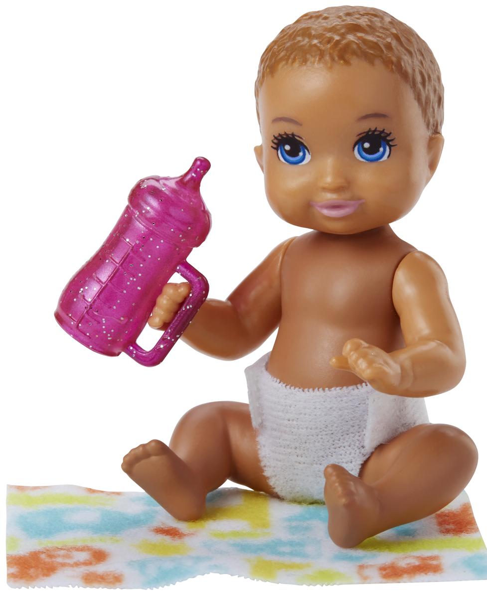 Barbie Игровой набор с куклой Ребенок с аксессуарами FHY76_FHY78