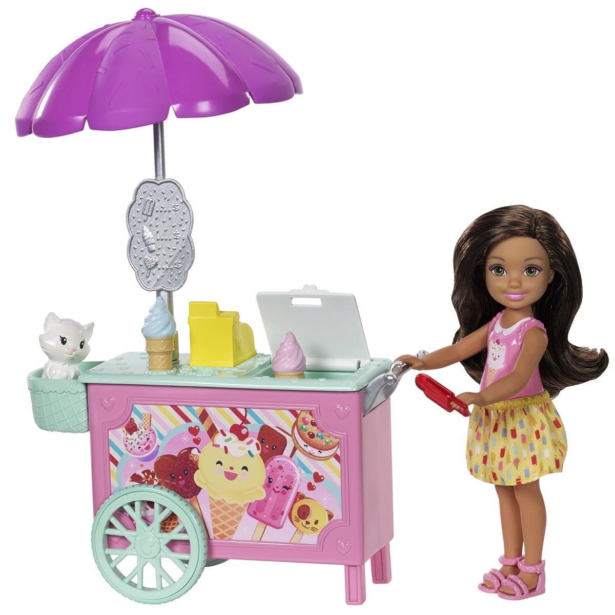 Barbie Игровой набор с куклой Челси и набор мебели FDB32_FDB33
