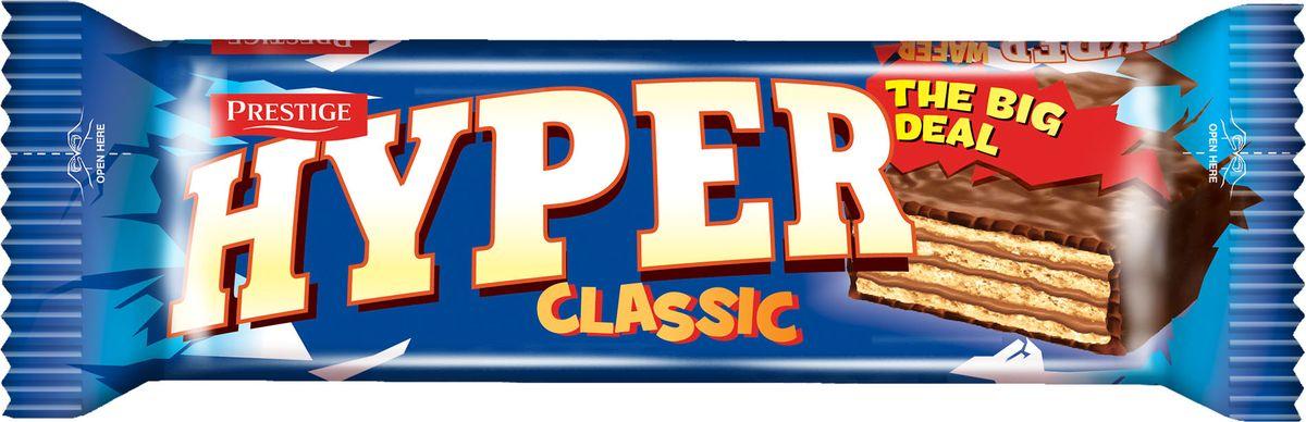 Hyper вафли в какао глазури, 55 г коломпенское вафли шоколадный вкус 220 г