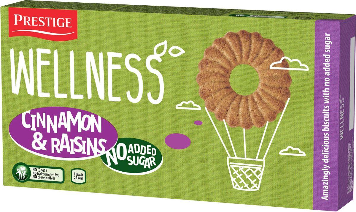 Wellness печенье с корицей и изюмом без сахара, 115 г prestige печенье с пралине 134 г