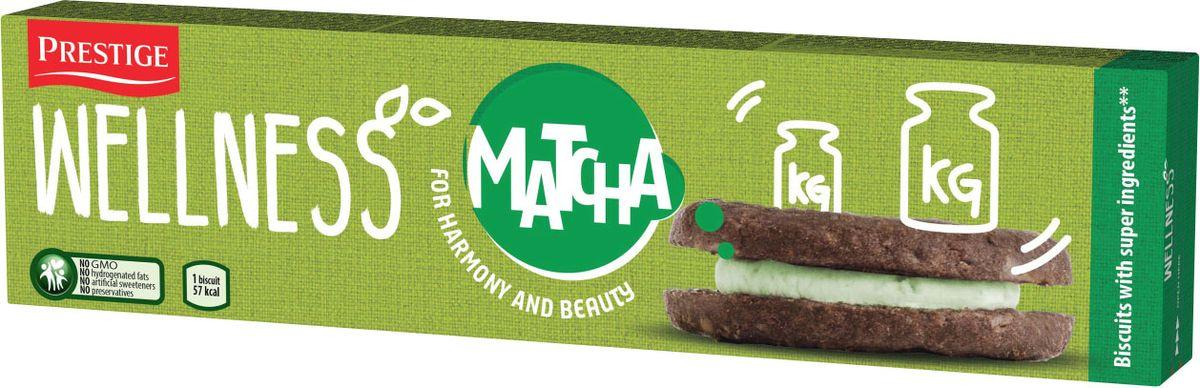 Wellness печенье с кремовой прослойкой со вкусом зеленого чая Матча, 92 г prestige печенье с пралине 134 г