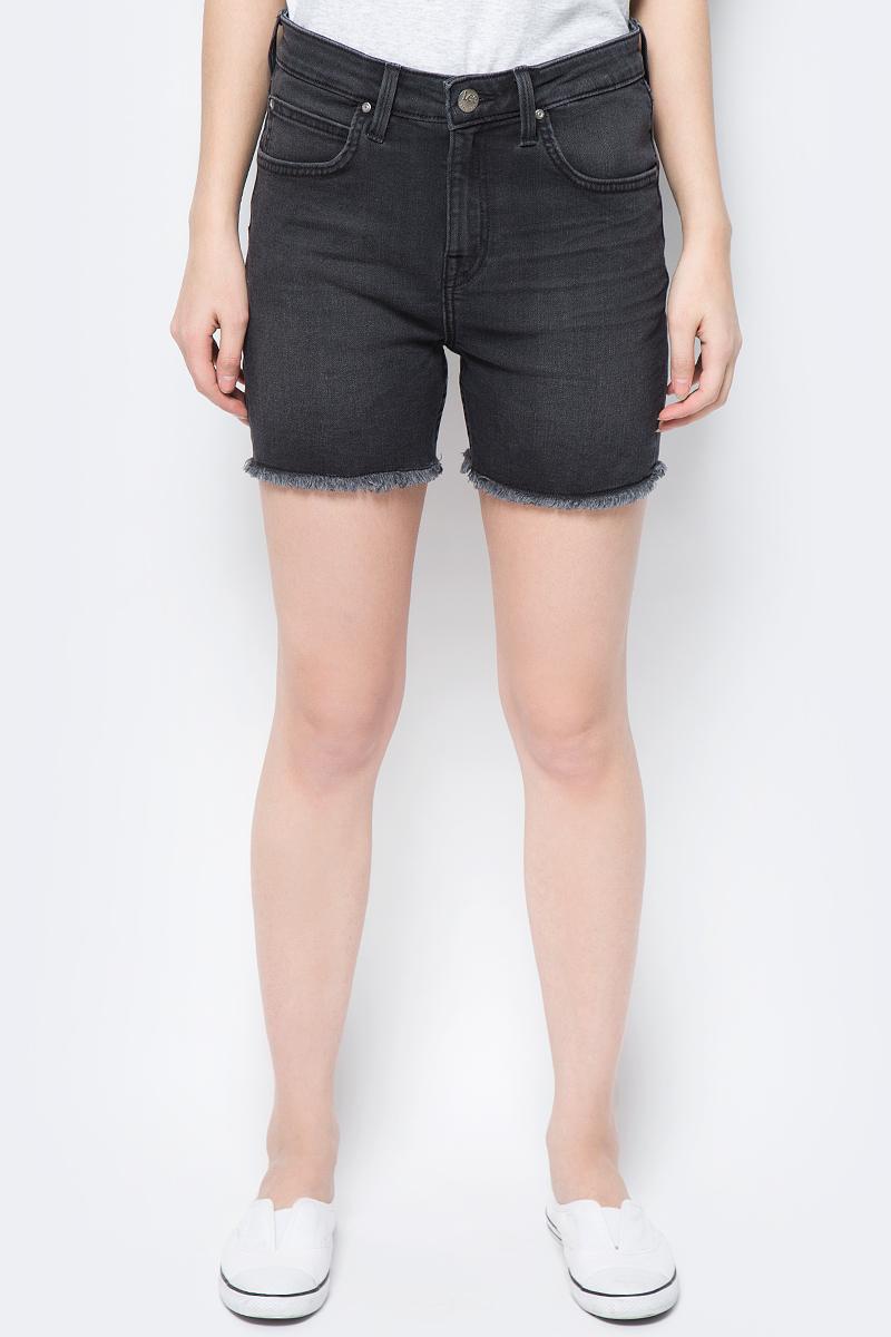 Шорты женские Lee, цвет: черный. L37NYGBR. Размер 32 (48) шорты женские