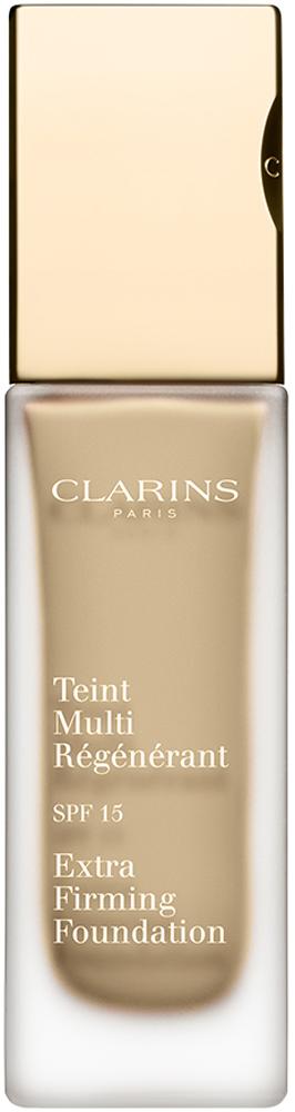 Clarins Регенерирующий тональный крем Teint Multi-Regenerant, SPF15 105, 30 мл04019510Тональный крем с насыщенной нежирной текстурой не только выравнивает тон кожи, но и оказывает заметное антивозрастное действие. Полисахариды овса обеспечивают моментальный эффект лифтинга и разглаживают кожу. Экстракт подорожника укрепляет и способствует повышению ее упругости. Комплекс Light-Optimizing дарит здоровое сияние молодости. Эксклюзивный комплекс Clarins Anti-Pollution защищает от вредного воздействия загрязнений.