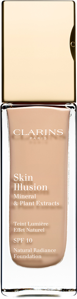 Clarins Увлажняющий тональный крем, придающий сияние коже SPF10 Skin Illusion 108, 30 мл04026810Тональный крем с легкой текстурой моментально сливается с кожей и создает абсолютно невидимое покрытие, деликатно выравнивающее тон. Формула на основе растительных и минеральных компонентов ухаживает за кожей в течение дня, помогая подчеркнуть ее естественную красоту. Экстракт розовой водоросли увлажняет и стимулирует клеточное обновление. Комплекс Light-Optimizing+ в сочетании с пудрой розового опала придает коже здоровое сияние. Эксклюзивный комплекс Clarins Anti-Pollution защищает от вредного воздействия загрязнений.
