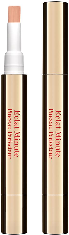 Clarins Корректор, придающий сияние и улучшающий цвет лица Eclat Minute 01, 2 мл04215110Корректор, сочетающий функции ухода и макияжа, быстро и просто помогает замаскировать следы усталости, притягивает свет на участки лица, обычно остающиеся в тени (область под глазами, крылья носа, контур губ, подбородок), и одновременно ухаживает за кожей. Полисахариды овса разглаживают ее и обеспечивают моментальный эффект лифтинга, а комплекс Light-Optimizing придает здоровое сияние.