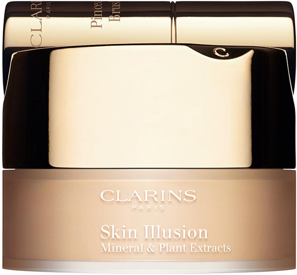 Clarins Минеральная рассыпчатая пудра Skin Illusion 108, 13 г80013038Тональное средство, сочетающее легкость пудры и покрытие тонального крема, выравнивает тон и маскирует все мелкие несовершенства кожи, оставаясь при этом совершенно незаметным на ней. А формула на основе натуральных минеральных и растительных компонентов ухаживает за кожей, дарит ей здоровое сияние и ощущение комфорта. Инновационная система распределения позволяет набирать необходимое количество средства, обеспечивая безупречный, но абсолютно естественный результат. Прилагающаяся к пудре мягкая кисть дарит удовольствие при каждом нанесении.