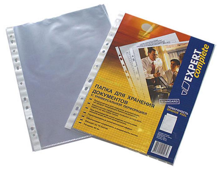 Expert Complete Файл-вкладыш с перфорацией формат А4 100 шт 220403220403Пакеты (файлы) с перфорацией Expert Complete толщиной 42 мк предназначены для хранения и защиты документов. Универсальная перфорация подходит для подшивки во все виды папок. Обладают антистатическим эффектом (не слипаются). Позволяют копировать документы, не вынимая их из папки. Вмещают до 50 листов стандартной плотности. Изготовлены из экологически чистого полипропилена. Упаковка 100 штук.