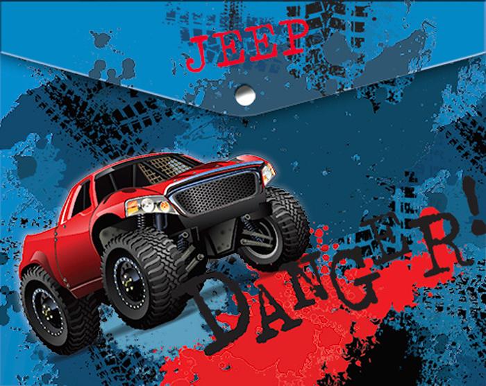 Limpopo Папка для тетрадей Danger22053107Папка-конверт пластиковая с кнопкой 180 мк под росcийскую тетрадь с дизайном Limpopo Danger