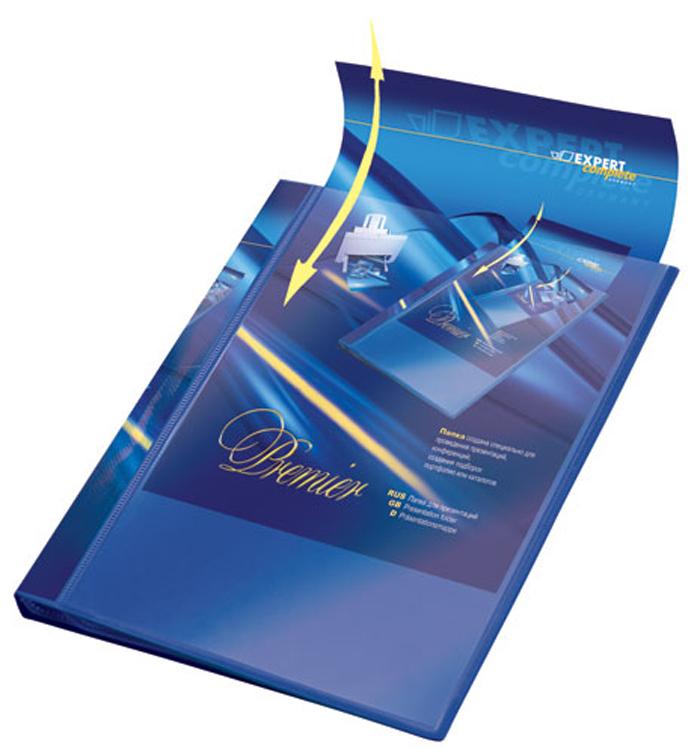Expert Complete Папка для презентаций Premier формат А4 221642221642Папка для презентаций на 20 страниц Expert Complete Premier формата А4. Оснащена торцевым карманом с цветной вложкой для подписи и лицевым карманом, который позволяет оформить папку под любые цели. Удобна для демонстрации документов, не требует их предварительной перфорации для подшивания в папку. Толщина одного слоя вкладыша - 42 мк. Страницы обладают антистатическим эффектом (страницы не слипаются). Ширина корешка - 20 мм. Папка изготовлена из экологически чистого полипропилена толщиной 0,7 мм.