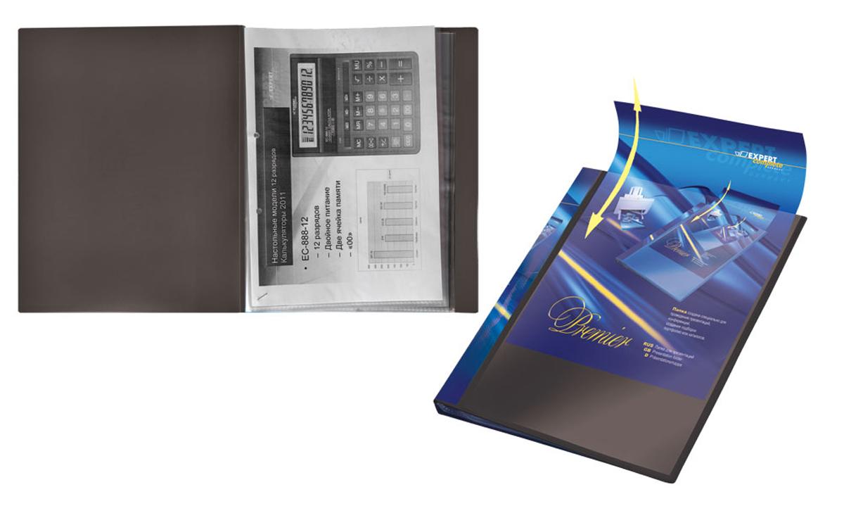 Expert Complete Папка для презентаций Premier формат А4 221651221651Папка для презентаций на 40 страниц Expert Complete Premier формата А4. Оснащена торцевым карманом с цветной вложкой для подписи и лицевым карманом, который позволяет оформить папку под любые цели. Удобна для демонстрации документов, не требует их предварительной перфорации для подшивания в папку. Толщина одного слоя вкладыша - 42 мк. Страницы обладают антистатическим эффектом (страницы не слипаются). Ширина корешка - 20 мм. Папка изготовлена из экологически чистого полипропилена толщиной 0,7 мм.