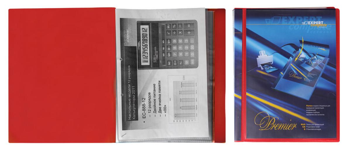 Expert Complete Папка для презентаций Premier формат А4 221653221653Папка для презентаций на 40 страниц Expert Complete Premier формата А4. Оснащена торцевым карманом с цветной вложкой для подписи и лицевым карманом, который позволяет оформить папку под любые цели. Удобна для демонстрации документов, не требует их предварительной перфорации для подшивания в папку. Толщина одного слоя вкладыша - 42 мк. Страницы обладают антистатическим эффектом (страницы не слипаются). Ширина корешка - 20 мм. Папка изготовлена из экологически чистого полипропилена толщиной 0,7 мм.