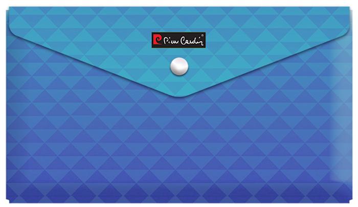 """Pierre Cardin Папка-конверт на кнопке Geometrie Blue255031Папка-конверт """"Geometrie Blue"""" от знаменитого бренда Pierre Cardin. Geometrie - серия абстрактных геометрических дизайнов в 3 изящных расцветках с градиентным переходом. Папка-конверт удобна в путешествиях и для хранения документов небольшого формата (чеки, квитанции). Защищает документы от загрязнения и смятия. Вмещает до 150 листов стандартной плотности. Изготовлена из плотного экологически чистого полипропилена толщиной 180 мк. Закрывается на кнопку."""