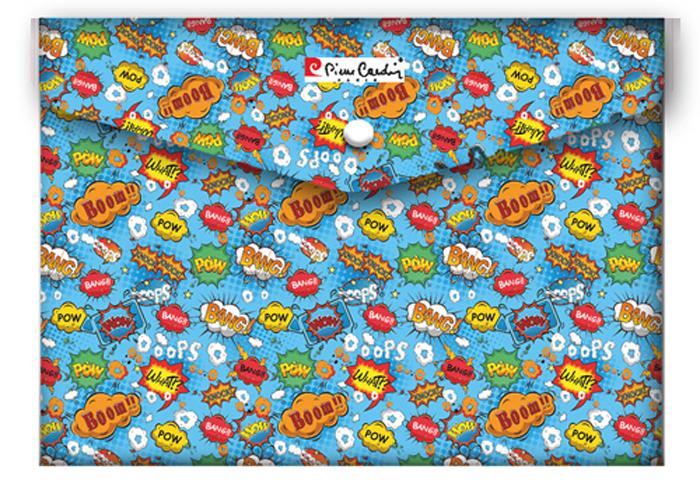 """Pierre Cardin Скоросшиватель, папка с клипом Comics2550390Папка-конверт """"Comics"""" от знаменитого бренда Pierre Cardin формата A5+. Comics - позитивная яркая серия товаров для творческих людей. Папка-конверт удобна в путешествиях и подходит как для хранения, так и транспортировки документов, предохраняя их от загрязнения и смятия. Вмещает до 150 листов стандартной плотности. Изготовлена из плотного экологически чистого полипропилена толщиной 180 мк. Закрывается на кнопку."""