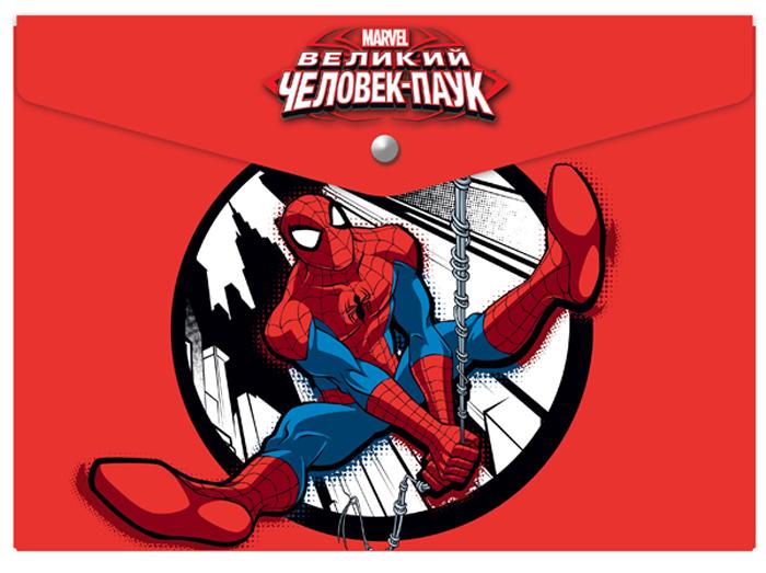 Marvel Папка-конверт на кнопке Человек Паук формат А44252187Папка детская пластиковая на кнопке формат А4. Материал - полипропилен. Изготовлена в Санкт-Петербурге. Размер: 33*24 см