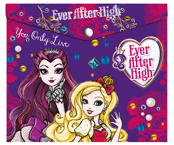 Mattel Папка-конверт на кнопке Ever After High формат А5+ 42533102 mattel mattel кукла ever after high мишель мермейд
