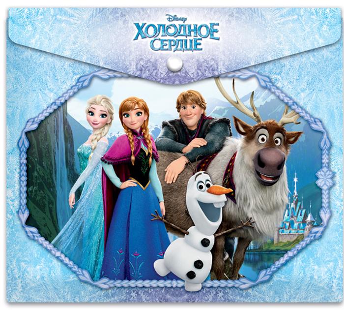 Disney Папка-конверт на кнопке Frozen формат А5+ 4253310642533106Папка-конверт пластиковая с кнопкой 180 мк под росcийскую тетрадь с дизайном. Формат А5+. Материал - полипропилен. Изготовлена в Санкт-Петербурге. Размер: 25*21см