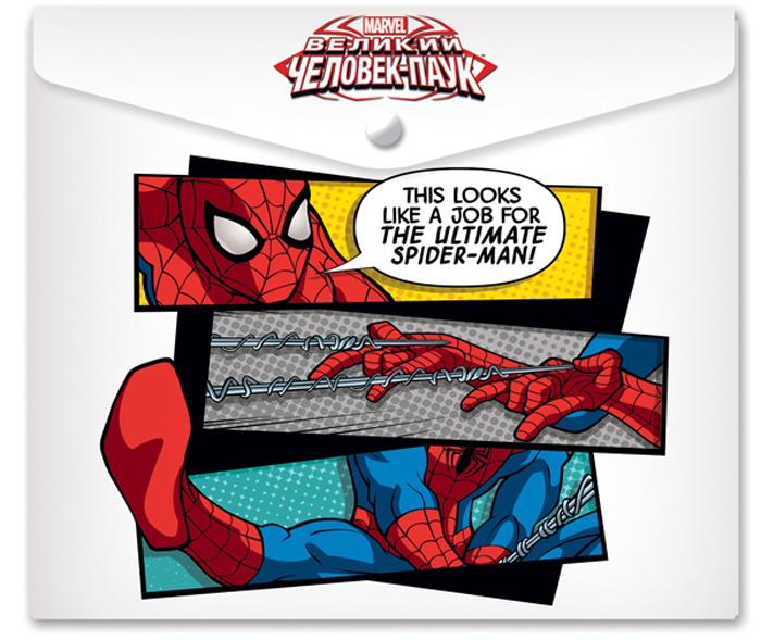 Marvel Папка-конверт на кнопке Человек Паук формат А5+ 42533113